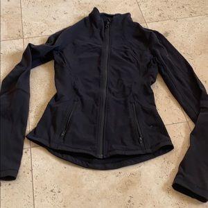 Black lululemon zippered fitted jacket